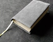Book Cover -Refreshingly Repurposed Reading - Fabric Book Cover - Quiet Gray Green