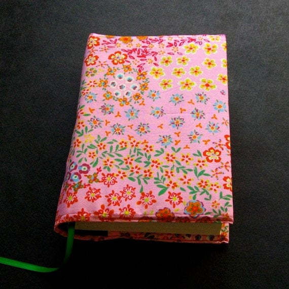 Large Fabric Book Cover : Book cover heavenly hardcover fabric covers large retro