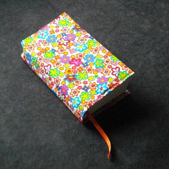 SALE HALF PRICE - Book Cover, Paperback Cover, Tiny Multi Floral Cotton Book Cover