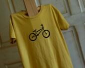 SALE Black & Mustard Medium Women's Organic Bike T-Shirt