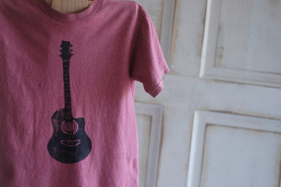 Small Youth Upcycled Guitar T-Shirt