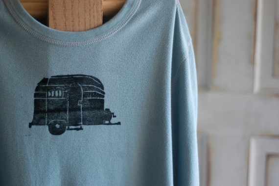 Medium Men's Upcycled Airstream Waffle T-Shirt