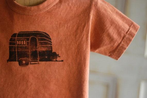 Toddler 3T Orange and Black Organic Airstream T-Shirt