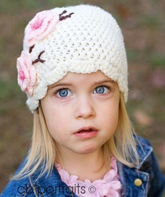 2T - 4T Cherry Blossom hat
