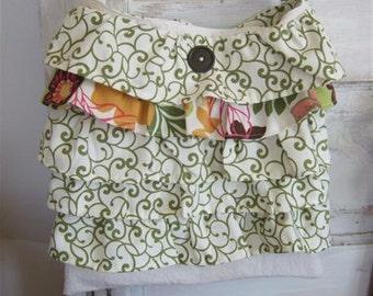 Boho Bag |Messenger Bag | Ruffled Bag | Ruffled Messenger Bag |Washed Cotton Bag |The WildRaspberry