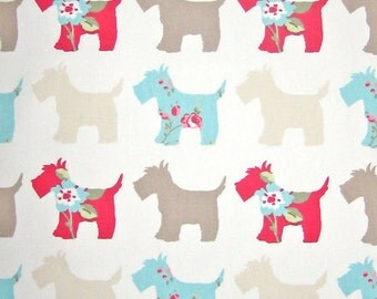 Scotties Furnishing Fabric by Clarke and Clarke, Scotty Dog Home Decor Cotton Fabric for upholstery & curtains