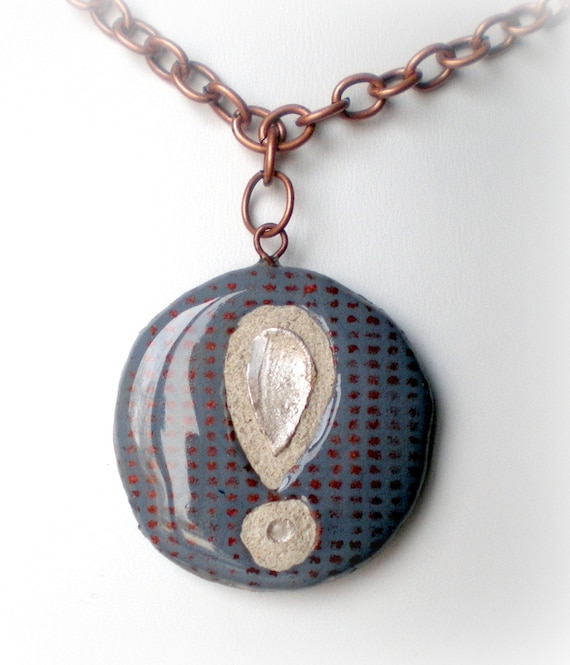 SHOCKED and CONFUSED Mosaic Tile Necklace