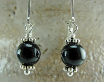 Coupon Code - Onyx Petite Drops Earrings by Screaming Peacock Jewelry