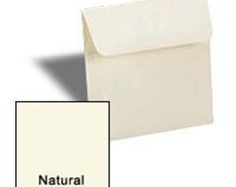 NATURAL 5 inch SQUARE Envelopes 50 pk