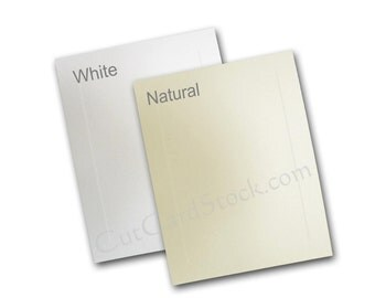 BLANK Embossed Panel A-1 FLAT Cards - 50 pk