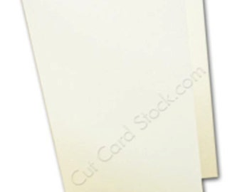 WHITE A6 FOLDED Cards - 50 pk