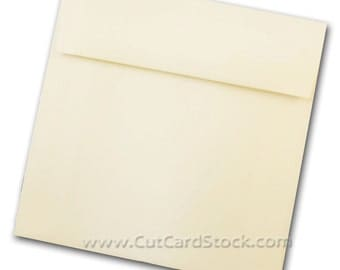 NATURAL 6.5 inch square Envelopes - 50 pack