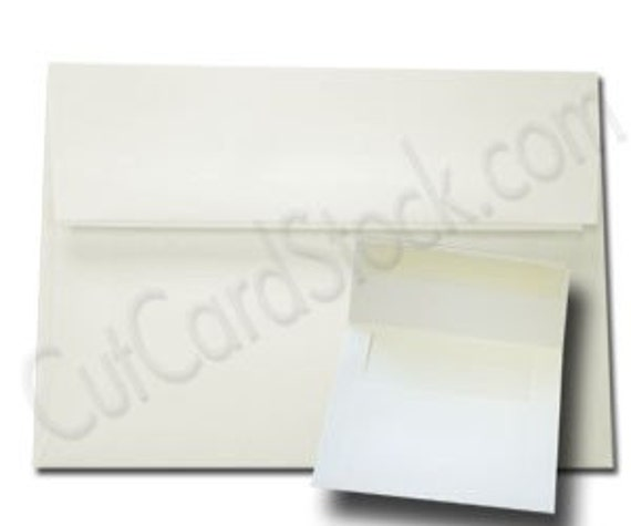 WHITE Wove Zip Stick A7 Envelopes 50 pack