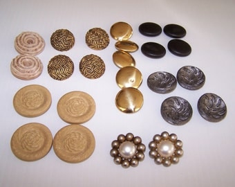 Vintage 22 Large Buttons with Style
