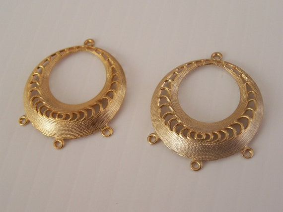 Vintage Gold Tone Earring Components