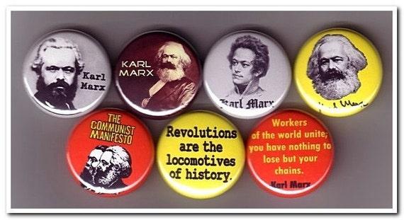 KARL MARX buttons, pins, badges, philosophy, marxism, das capital, communist manifesto