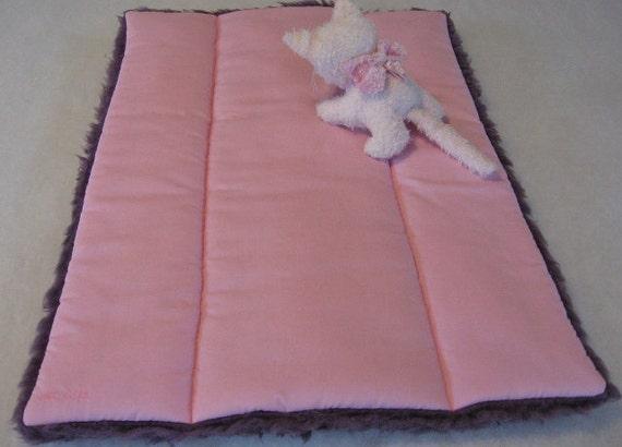 Cat Quilt Magic Carpet Pink with Purple Fur