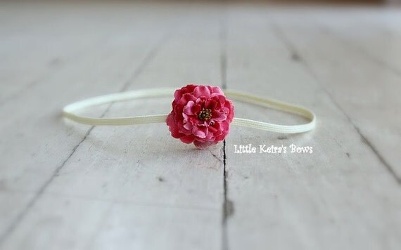 SALE - Maia Skinny Headband - Raspberry Pink...Multiple Sizes Available Newborn Baby Infant Toddler Adult