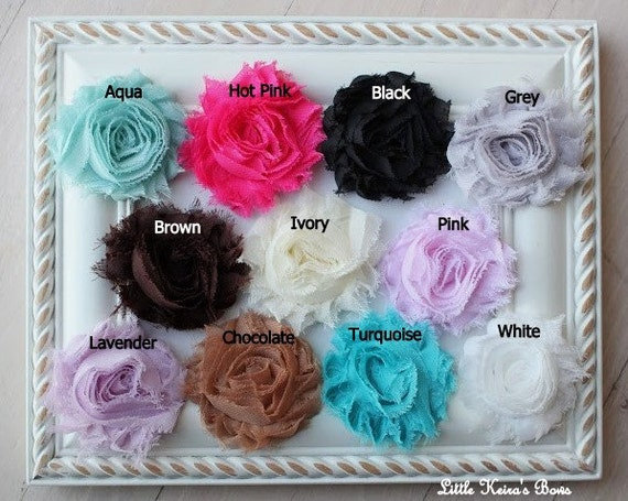 Shabby Chic Flowers on Skinny Headbands Set of 3...Multiple Sizes Available Newborn Baby Infant Toddler Adult
