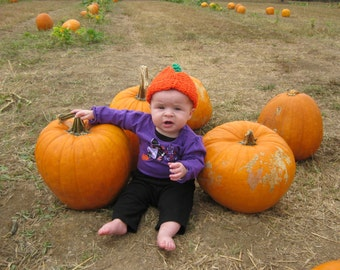 NEWBORN, INFANT, PREEMIE Pumpkin Hats
