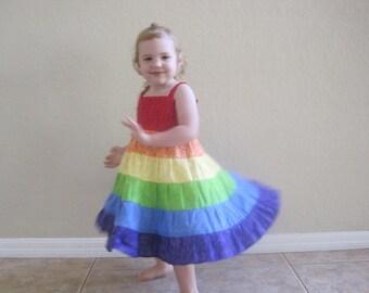 Custom Made RAINBOW TWIRL DRESS