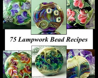Jacqueline Parkes - 75 Lampwork Bead Recipes Plus Bonus Floral Cane Tutorial