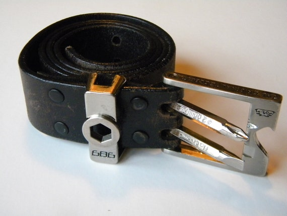 Leather Belt with Original Tool Belt Buckle