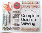 Guide to Sewing by Readers Digest, How to Sew, copyright 1976, sewing book with step.by.step instructions, fashion book