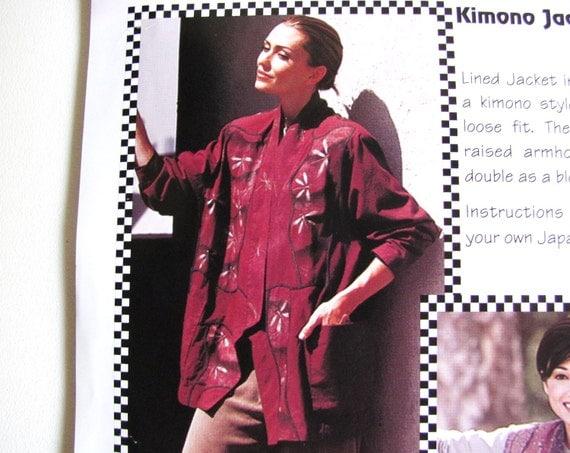 KIMONO Vest or Jacket, sewIng pattern, Paw Prints 1007, XS to 3XL