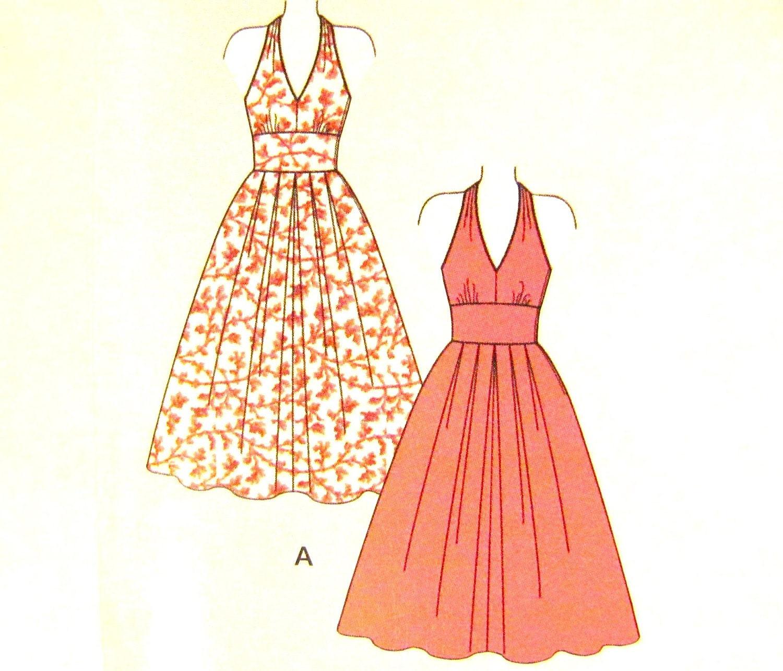 50s halter dress pattern