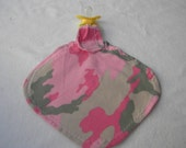 Newborn Baby Pacifier Blanket Military USA Pink Camoflauge