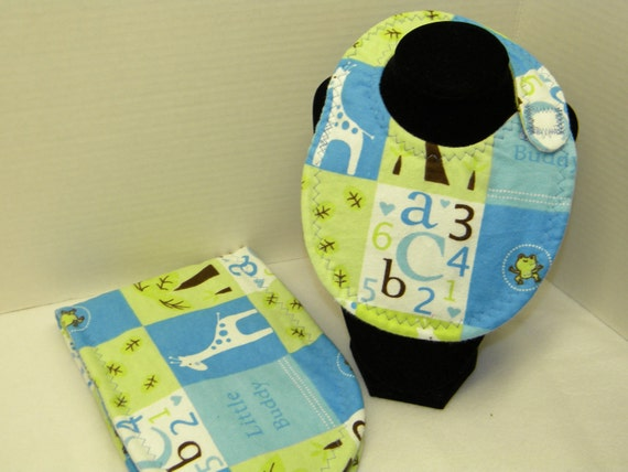 Newborn Baby  Bib and Burp Cloth Set