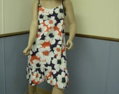 1970's Strappy Summer Dress Size L