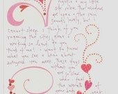 Customized Love Letter for the Object of Your Affection