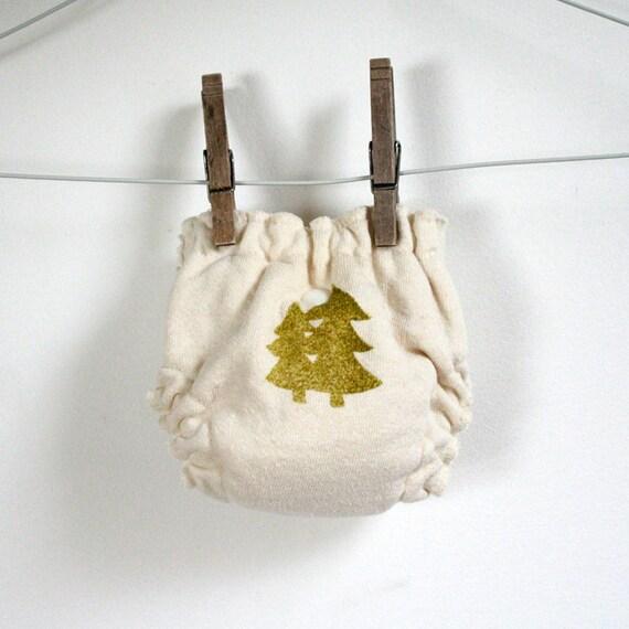 Newborn fitted cloth diaper - hand stamped - organic hemp fleece - snap closure - organic bamboo velour insert - extra small - newborn nappy