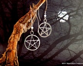 Elemental Moon Pentacle Earrings with Moonstone