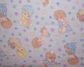 Crib Toddler Flannel Fitted Sheet Precious Moments