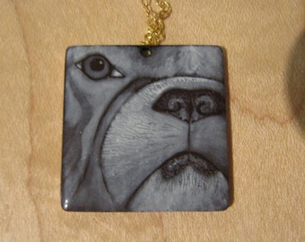 Grisaille dog