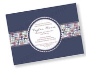 BABY SHOWER MADRAS Printable Party Invitation - Blue Printing Available