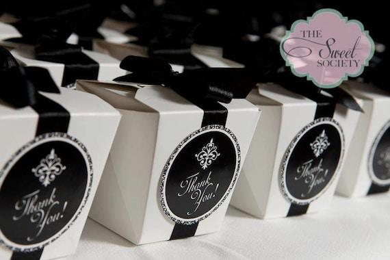 GLAM BLACK & WHITE Printable Favor Tags