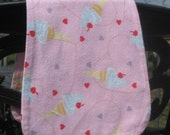 LAST ONE - I Love Ice Cream, Cotton Flannel Burp Pad