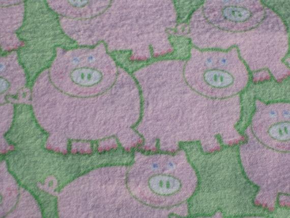 LAST ONE - This Little Piggy Has Lots of Friends, Cotton Flannel Burp Pad