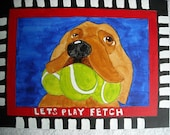 Dog with Tennis Balls Wall Art Painting