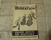 Square Dances for Beginners Vintage Extension Service