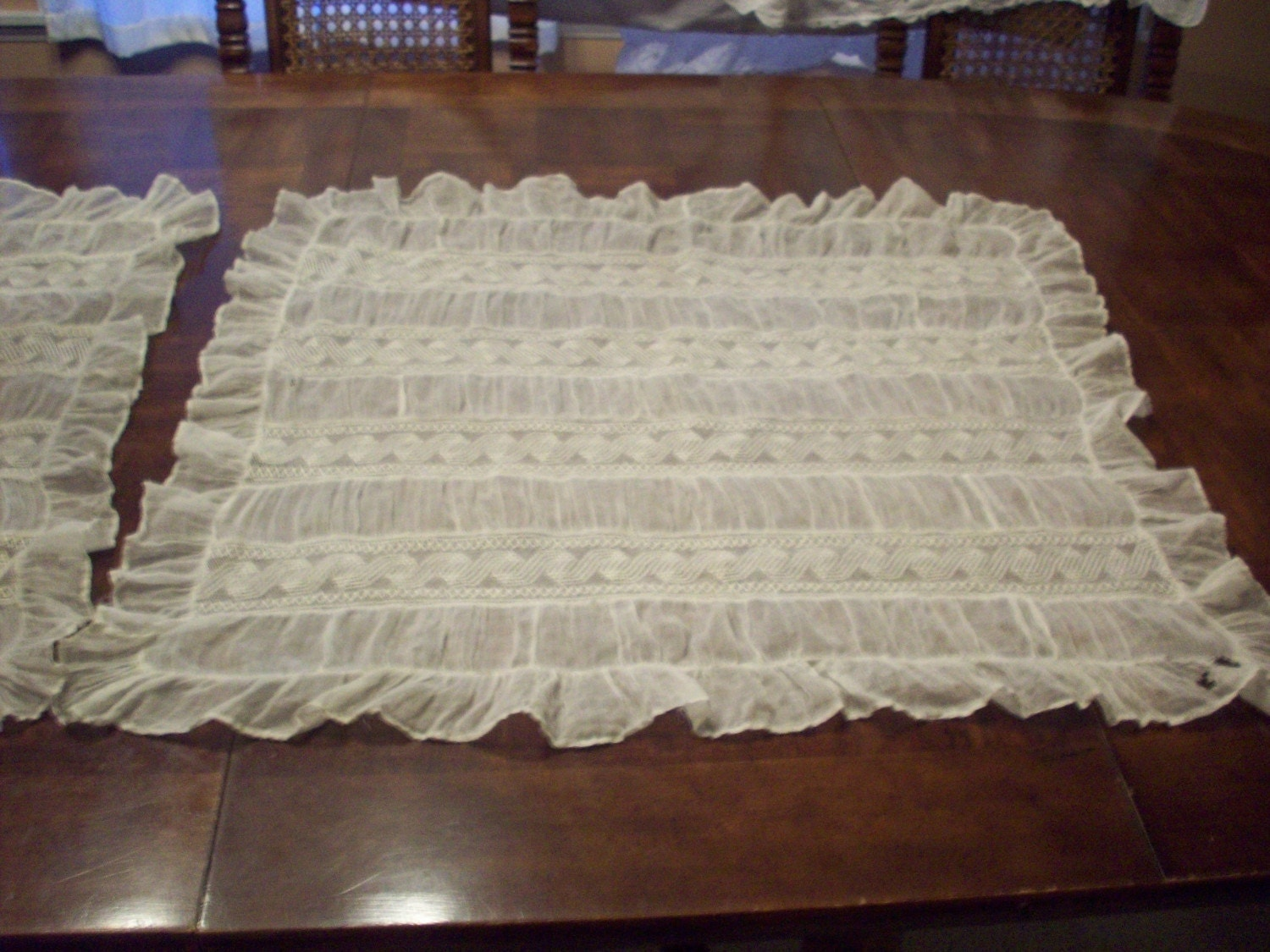 Gorgeous victorian handmade lace pillow shams by wandagert on Etsy