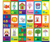 Alphabet poster- kids wall art