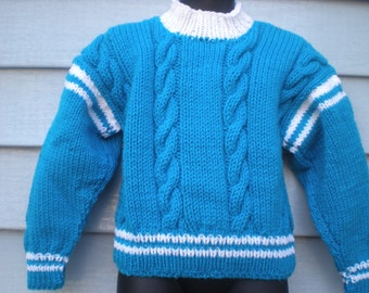 Unisex Cable Pullover,. Size 4T