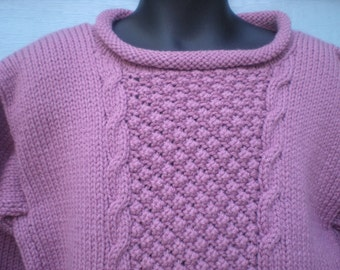 Roll Collar and Bottom Pullover, Size 5