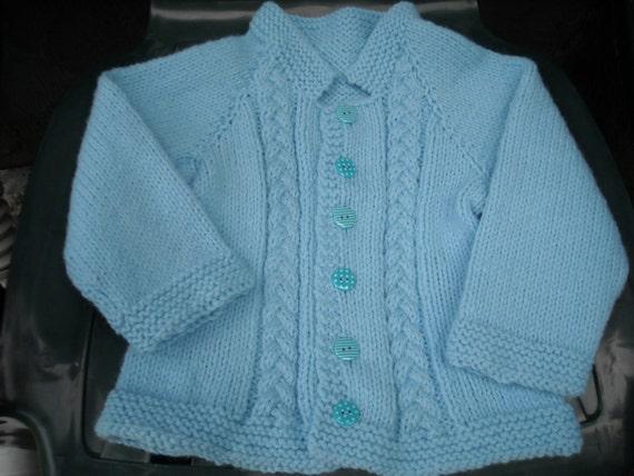 Baby Blue Unisex Sweater, Size 18-24 months