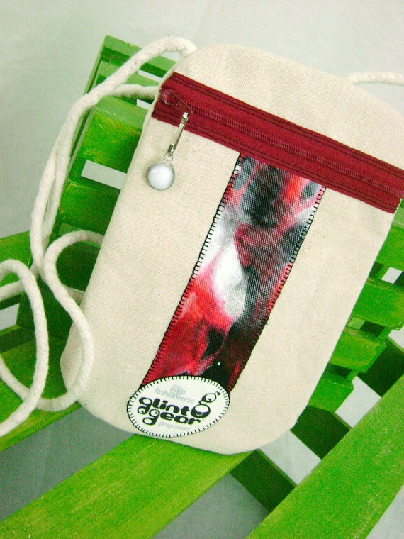 Small Crossbody Pouch - Black Cherry Space Capsule